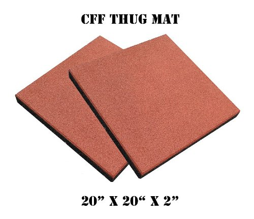 CFF Thug Mat - 2-inch Thick, High Impact Rubber Gym Mat - Pair by CFF