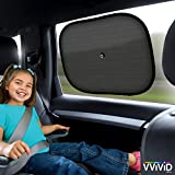 VViViD UV Blocking Nylon Car Window Mesh Sun Shade Screen 2-pack Including Suction Cups