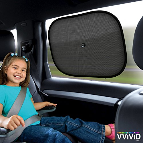 - VViViD UV Blocking Nylon Car Window Mesh Sun Shade Screen 2-Pack Including Suction Cups