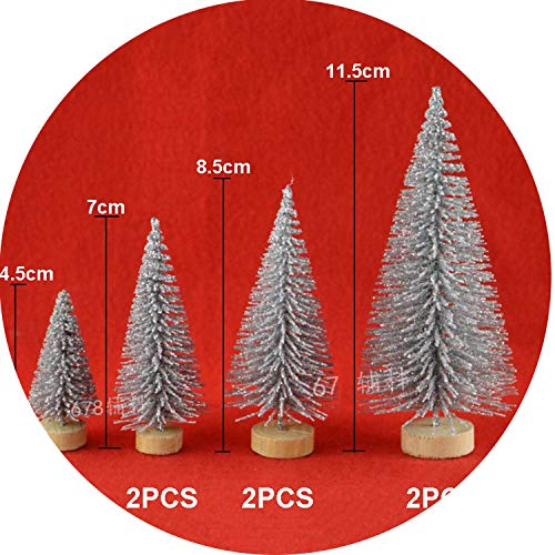 Christmas Decorations Home 12Pcs Christmas Tree Christmas Desktop Decor Pine Tree Xmas Party