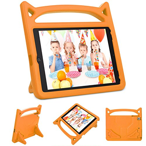 New iPad 9.7 2018/2017 Kids Case, DICEKOO 9.7 inch iPad Air 2 / iPad Air Cover Shockproof Childproof Lightweight Handle Friendly Convertible Stand for Apple iPad 6th/5th Generation(Orange) ()