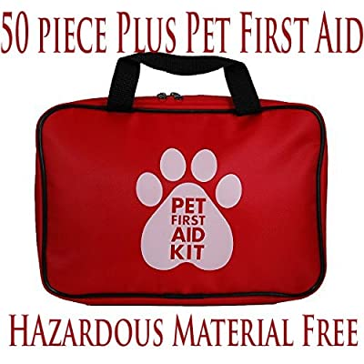 Tactical First Aid Kit: AKC Pet First Aid Kit, Red (46 Piece) Modified from First Aid - USA