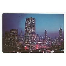 Night Falls on Midtown Manhattan, New York Vintage Original Postcard #3548 - 1960's