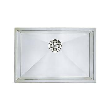 Good Blanco 515819 16 Inch Precision Medium Bowl Undermount Sink, Stainless Steel