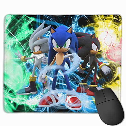 So-nic Hedgehog Trippy Cool Gaming Mouse Pads Custom Overhand Keyboard Mouse Mat Wrist Pad 10