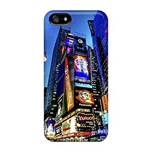 For Iphone 5/5s Premium Tpu Case Cover Times Square 3 Protective Case