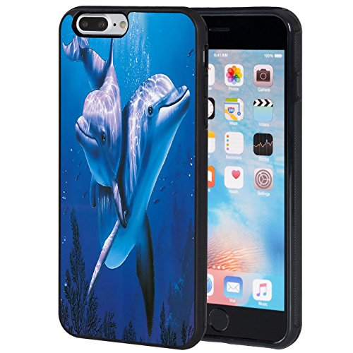 iPhone 7 Plus Case,AIRWEE Slim Anti-Scratch Shockproof Silicone TPU Back Protective Cover Case for iPhone 7 Plus 5.5 Inch,Dolphin on underwater