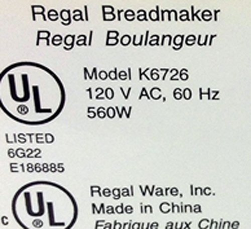 amazon com new kneading paddle fits regal model k6726 kitchen pro rh amazon com Regal Breadmaker K6751 Manual Regal Bread Maker Manual