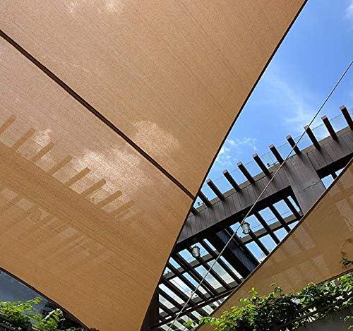 QHGao Techo De La Vela De La Sombra del Sol Rectangular para La Terraza De La Vela del Patio Trasero Al Aire Libre para El Patio De La Piscina del Jardín, Engrosamiento