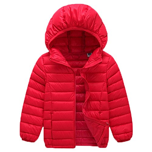 VICVIK Boys and Girl Fashion Colorful Down Feather Jacket Coat Kid Winter Clothes