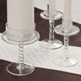 Clear Glass Pedestal Unity Stands (Set of 3)