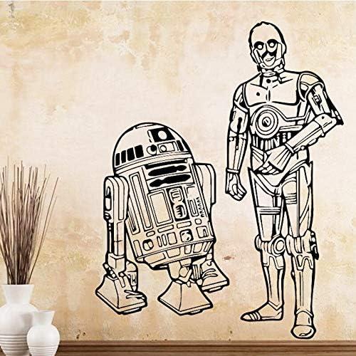 Ajcwhml Etiquetas engomadas Lindas de la Pared del Vinilo del Robot Pegatinas de la decoración del hogar para la decoración casera Etiquetas de la Pared Decorativas desprendibles: Amazon.es: Hogar