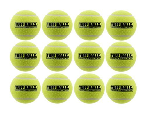 - 12 Tuff Balls - Industrial Strength Dog Toys, Standard Size 2.5