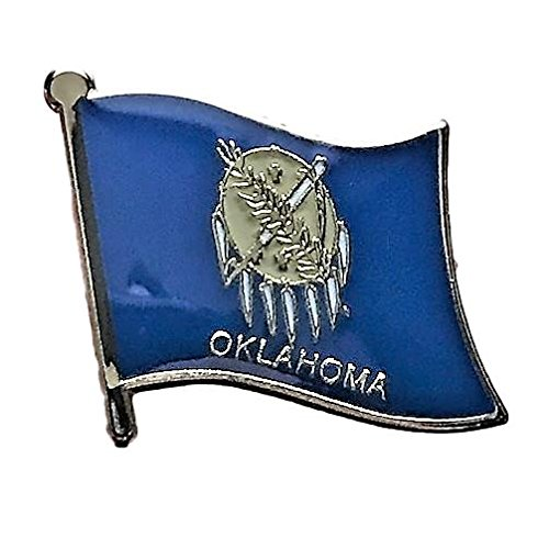 Backwoods Barnaby Oklahoma Flag Pin/U.S. State Lapel Pins Collection (OK, 0.75