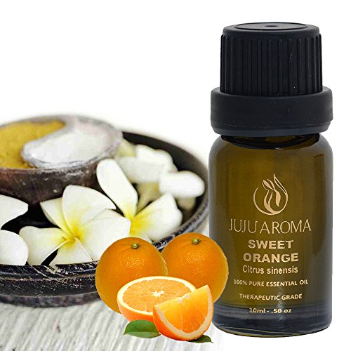 JuJu Aroma Sweet Orange Essential Oil - 100% Pure, Natural and Therapeutic Grade - 10ml