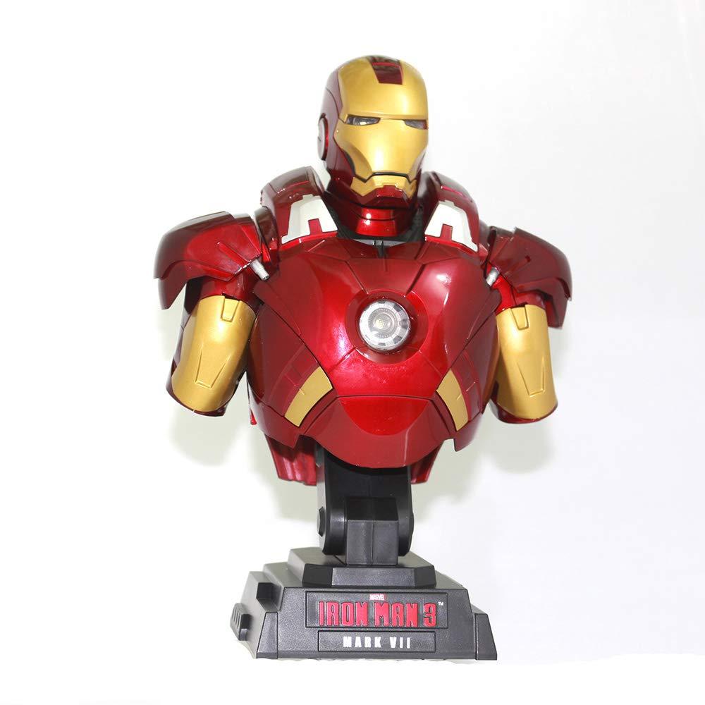 Iron Man RLJ Avengers 1 4 Büste Iron Man Modell Anime Modell Superheld Spielzeug Modell 23 cm Modell Iron Man