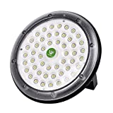 Viugreum 50W LED High Bay Lighting,UFO Warehouse Lights,5000LM,Daylight White (6000K) Commercial Industrial Chandelier for Factory,Workshop,Gymnasium,Basement Parking,Warehouse,Commercial Premise