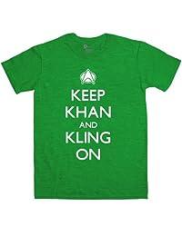 Keep Khan And Kling On T Shirt - Antique Irish Green - Large