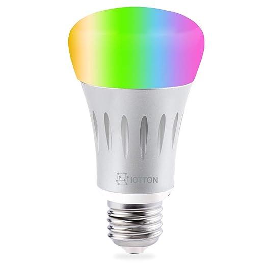 Bombilla inteligente de LED, con wifi, multicolor, A19, regulable, 7 W