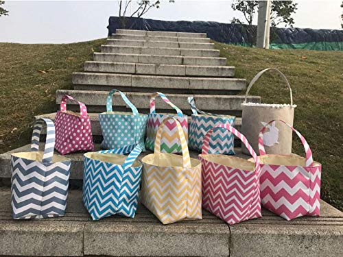(Gift Bags Wrapping Supplies - 2018 Chevron Baskets Classic Design Collection Totes Buckets Sn1553 - Broom Bride Favor Bucket Easter Bunny Popcorn Axon Decor Beach)