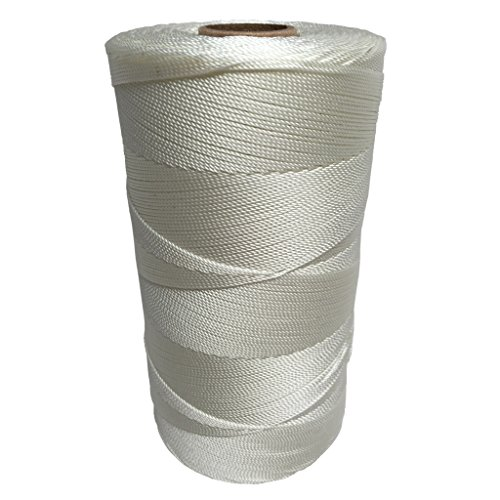 SGT KNOTS Twisted Nylon Seine Twine #7 100% Nylon Fiber- High Tensile Strength & Versatile Utility Twine - Crafting, Camping, Boating, Mason Line, Fishing, Hunting, Survival, Marine (3220 ft) - 100% Nylon Fibers