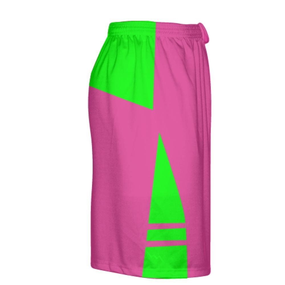 more photos 5f279 91e9e Amazon.com  Youth Hot Pink Neon Green Athletic Shorts - Boys Mens Lacrosse  Shorts Youth, Pink  Clothing