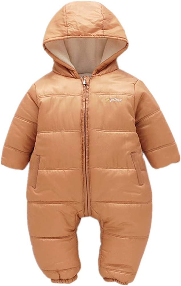 Beide Baby Boys Girls Snowsuits Winter Hooded Jackets Rompers
