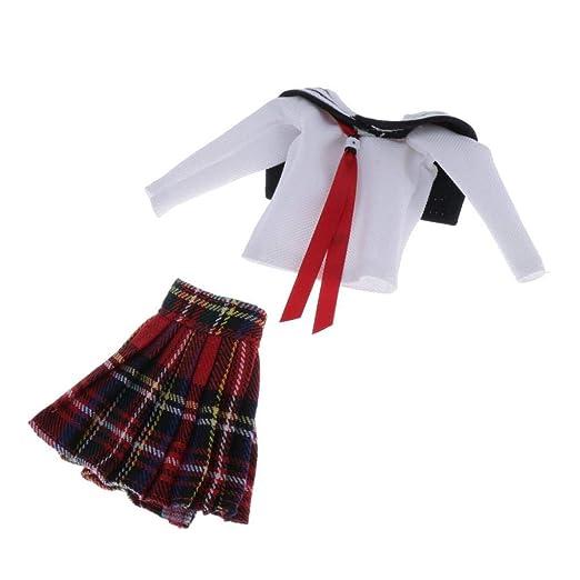 Amazon.es: Toygogo Mini Falda Uniforme Ropa / Vestido de Falda de ...