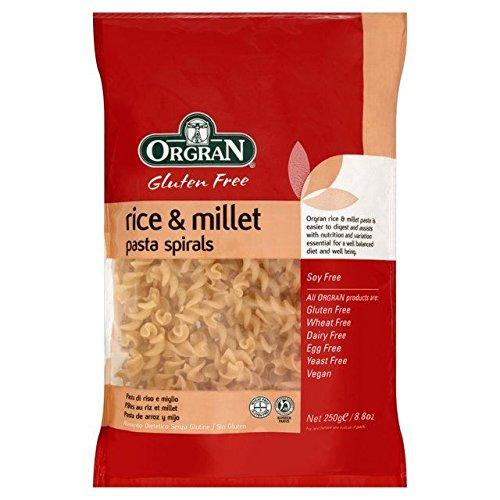 Orgran Gluten Free Rice & Millet Pasta Spirals 250g