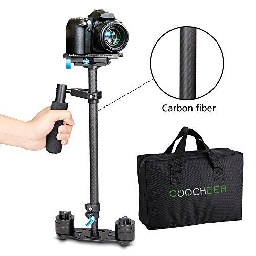 COOCHEER Handheld Stabilizer Carbon Fiber Video Camera Stead