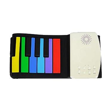 Órgano electronico Colorido, portátil, niña y niño, regalo, silicona, portátil,