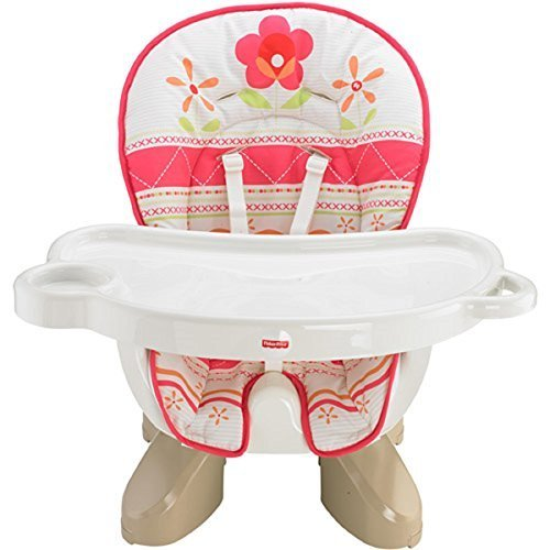 Fisher Price Space Saver High Chair Sunny Flower Pink (Fisher Price Chair Girls High)