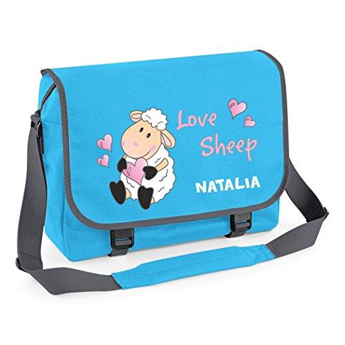Borsa a tracolla Zainetto Borsa studente borsa a tracolla - studenti della scuola/ Love Sheep