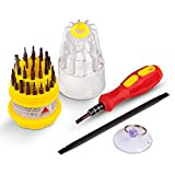 Pocket Precision Screwdriver Set By INNIFI | Powerful S2 Alloy Steel Material | 30-in-1 Tool Set With Anti-Static Plastic Prying Bar & Suction Cup For Laptops, Phones, Cameras & Electronic Devices