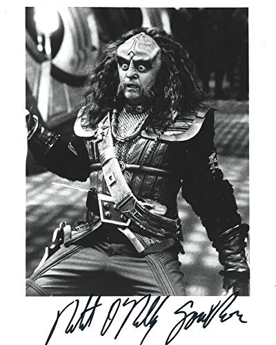 Star Trek Deep Space Nine Robert O'Reilly as Gowron Signed Autographed 8x10 Black and White Photo