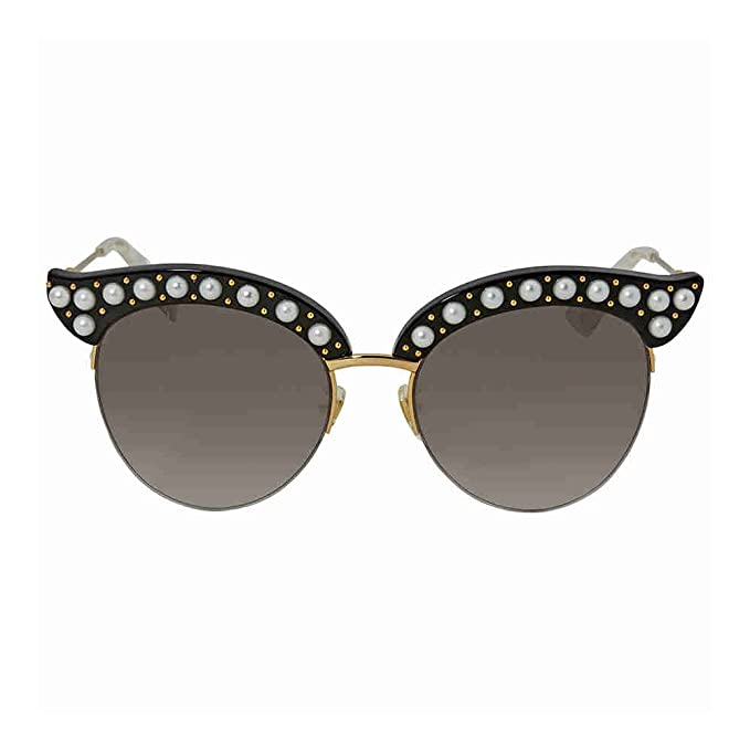 Gucci GG0212S 001, Gafas de Sol para Mujer, Negro (1/Grey), 53: Amazon.es: Ropa y accesorios