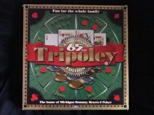 Tripoley by Cadaco 65th Anniversary Edition with Rotating Plastic Turntable & Special Edition Gold & Silvere Playing Chips