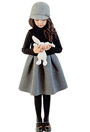 f65e495e3b2a2 ワンピース 女の子 裏起毛なし春秋薄いタイプ 防寒 子供服 長袖 プリンセス カジュアル 綿 おしゃれ