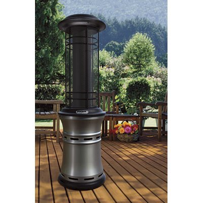 Attirant BernzOmatic Gen II Gas Patio Heater   40,000 BTU, Brushed Nickel, Model#  PH3250N