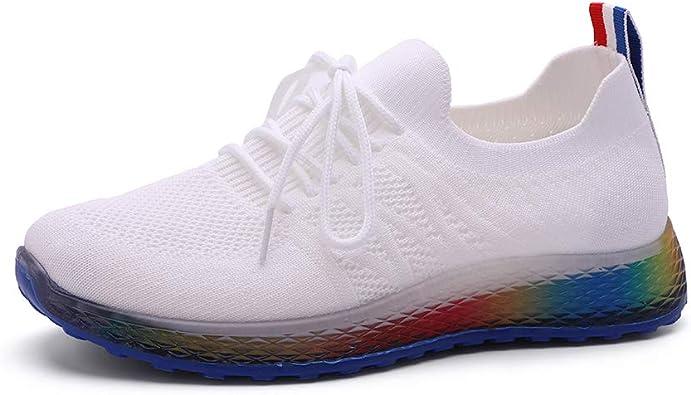 Rainbow Dots Mens Running Shoes Mesh Soft Lightweight Sport Shoes