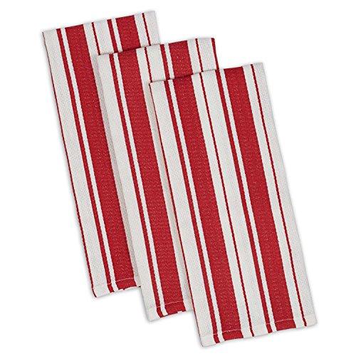 DII Cotton Gourmet Stripe Dish Towels, 18 x 28