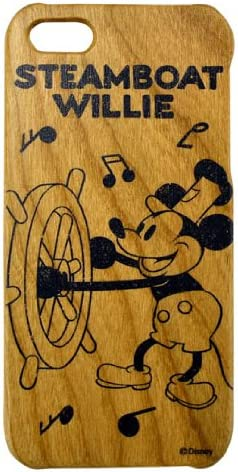 Disney Character Wood iPhone 5 Case (Stream-Boat Willie Mickie ...