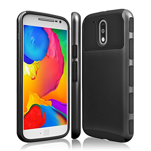 Moto G4 Case  Moto G4 Plus Case  Tekcoo  Tduke Hy  Dual Layer Hybrid Impact Defender Slim Hard Case Cover Plastic Shell Outer Soft Tpu Rubber Silicone Inner For Motorola Moto G 4Th Gen  Black Black