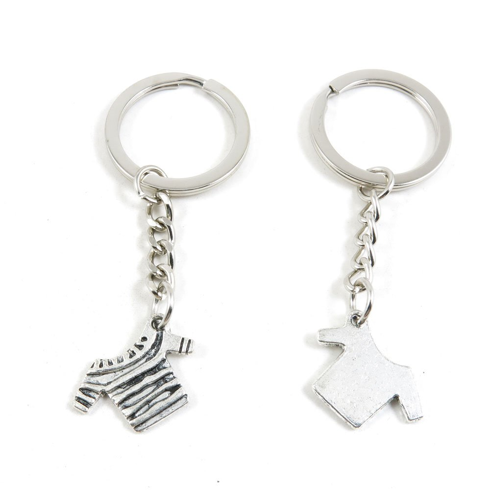 50 x Keychain Keyring Key Ring Chain Jewelry Findings D6BS6 Short Shirt