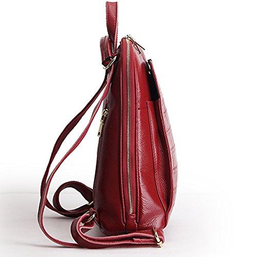 portés en épaule E Sac Girl cuir Sac Sac femme Bordeaux fashion 895 LF main dos portés à 06074Hwq