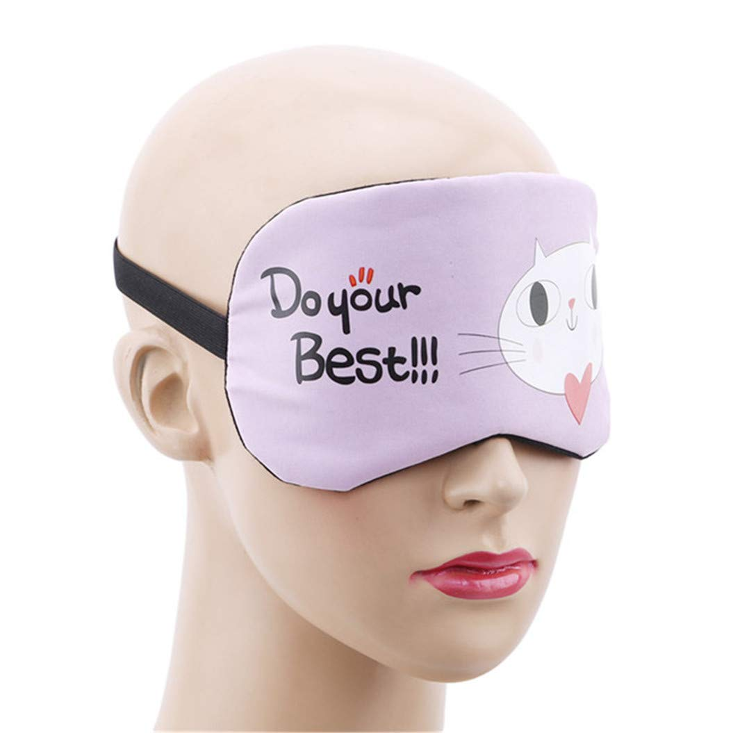 LZIYAN Sleeping Mask Cartoon Cat Sleep Eye Mask Breathable Travel Shade Cover Rest Relax Sleeping Blindfold Eye Patch,Purple by LZIYAN (Image #4)