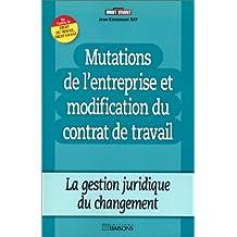 mutations entreprise et modification contrat travail