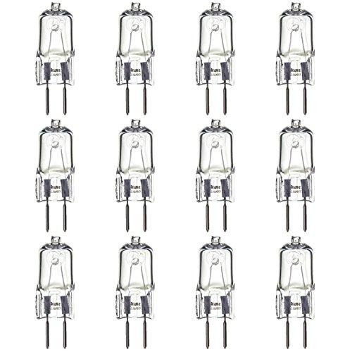 Sunlite Q35/CL/GY6/120V/12PK Halogen 35W 120V Q35 Single Ended Capsule Light Bulbs, Clear Finish, 3200K Bright White, GY6.35 Base, 12 Pack