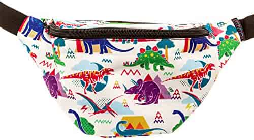 KANDYPACK Dinosaur Fanny Pack with Hidden Pocket Perfect for Raves and Festivals