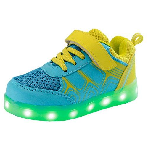 ACME LED Schuhe Sportschuhe Sneaker Turnschuhe mit USB Aufladen 7 Farben Für Kinder Jungen Mädchen Farbe 2